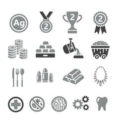 Silver icon vector