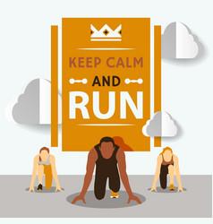 start to run race running vector image