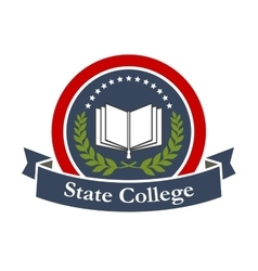 State college university high school icon vector