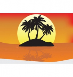 sunset paradise vector image