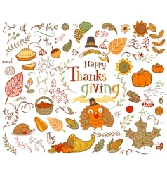 Thanksgiving design elements vector