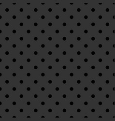 Tile pattern with black polka dots on grey vector