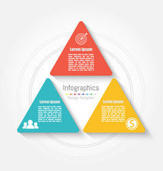 triangle infographic template business concept vector image