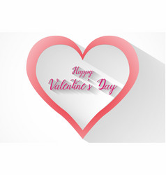 valentines heart and small hearts vector image