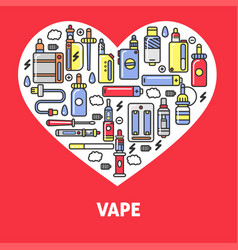 Vape products promotional poster with modern vector