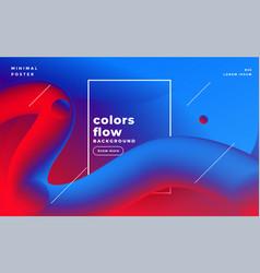 Vibrant 3d liquid loops fluid colors background vector