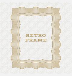 vintage rectangular frame vector image
