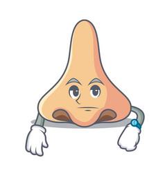 Waiting nose mascot cartoon style vector