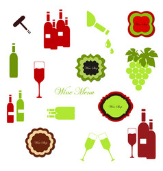 wine labels collection vector image