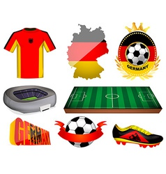 Germany soccer vector image vector image