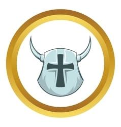 Medieval helmet icon vector