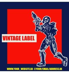 Retro Space Label vector image vector image