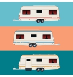 Set of trailers vector image