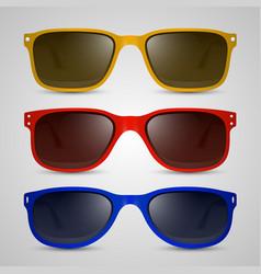 sunglasses color vector image