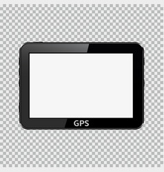 blank gps device isolated on transparent vector image