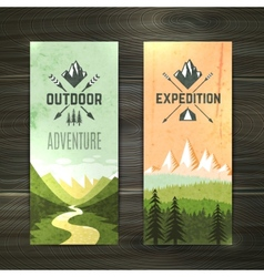Tourism vertical banners set vector image vector image