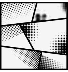Comic style framed background Design element for vector image