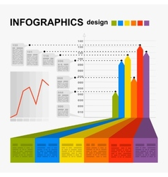 Conceptual blank - colorful infographics design vector image