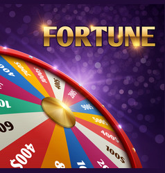 gambling background with 3d fortune chance vector image vector image