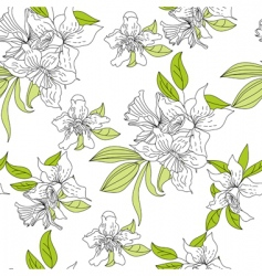 narcissus floral wallpaper vector image vector image