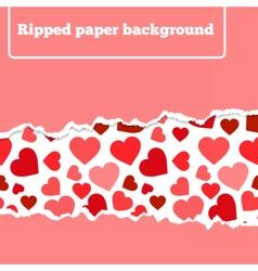 rippedheart vector image