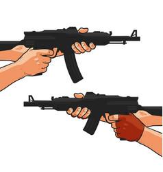 assault rifle small arm machine gun shotgun vector image vector image