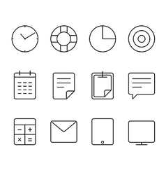 Different thin web icons set vector image