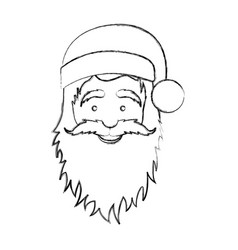 silhouette blurred face cartoon santa claus vector image