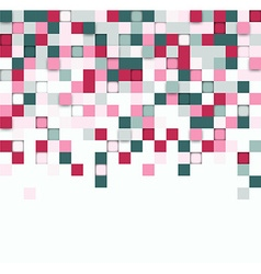 Squares technology background vector image
