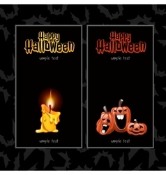 Two vertical cards for Halloween vector image vector image