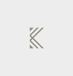 abstract letter k logo design linear elegant vector image