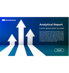 Analytical report - web template in trendy colors vector