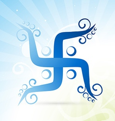 artistic swastik symbol vector image