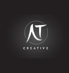 at brush letter logo design artistic handwritten vector image