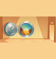 background - bank vault door with gold vector image