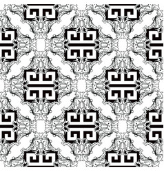 baroque black and white modern seamless pattern vector image