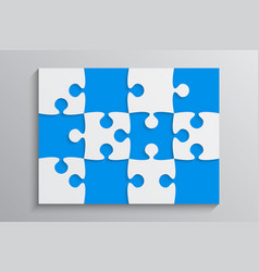 Blue piece puzzle banner 12 step background vector