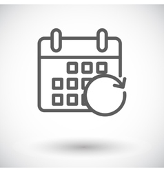 Calendar with upload vector