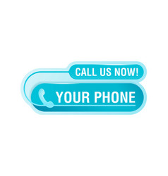 Call us now creative web button vector