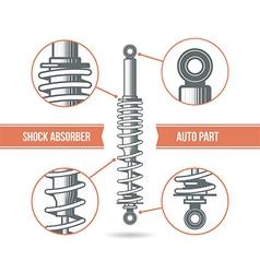 Car shock absorber icon vector