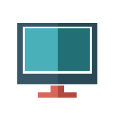 cartoon screen monitor display technology vector image