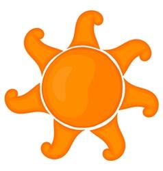 Cartoon sun eps 10 vector image