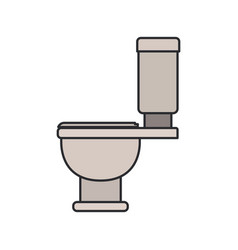 color image of toilet icon side view vector image