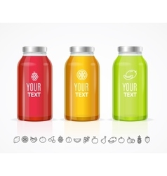 Colorful Juice Bottle Jar Template Set vector