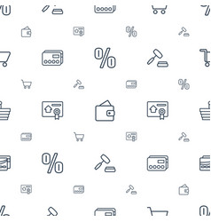 Commerce icons pattern seamless white background vector