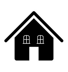 contour beautiful house icon vector image
