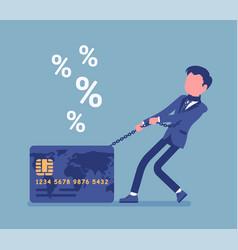 Credit card male cardholder percentage rate vector