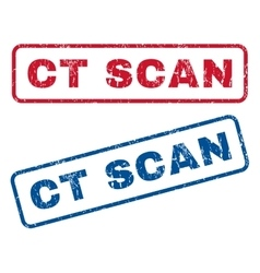 Ct Scan Rubber Stamps vector image