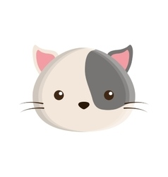 Cute cat mascot isolated icon vector