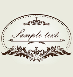 Decorative circle frame in vintage style vector